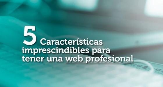 5 Características imprescindibles para tener una web profesional