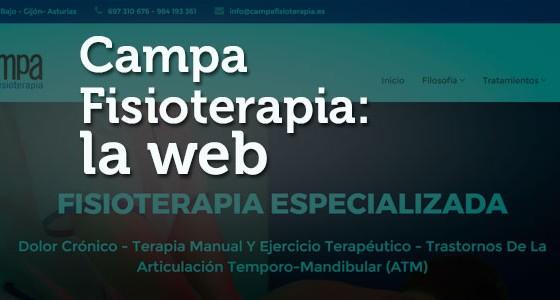Campa Fisioterapia: la web